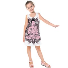 Ornate Buddha Kids  Sleeveless Dress