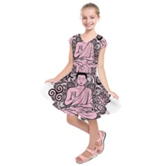 Ornate Buddha Kids  Short Sleeve Dress