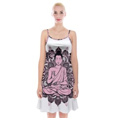 Ornate Buddha Spaghetti Strap Velvet Dress
