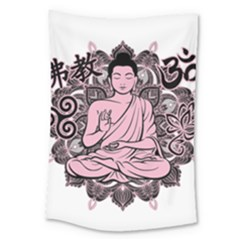 Ornate Buddha Large Tapestry
