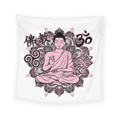 Ornate Buddha Square Tapestry (Small)