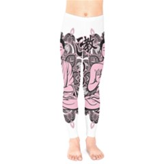 Ornate Buddha Kids  Leggings