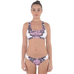 Ornate Buddha Cross Back Hipster Bikini Set