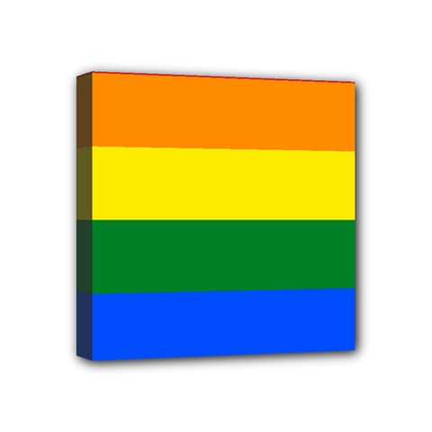 Pride rainbow flag Mini Canvas 4  x 4