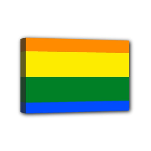 Pride rainbow flag Mini Canvas 6  x 4