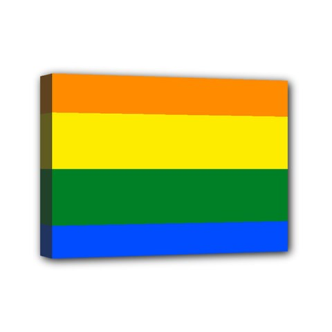 Pride rainbow flag Mini Canvas 7  x 5