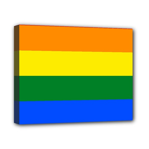 Pride rainbow flag Canvas 10  x 8