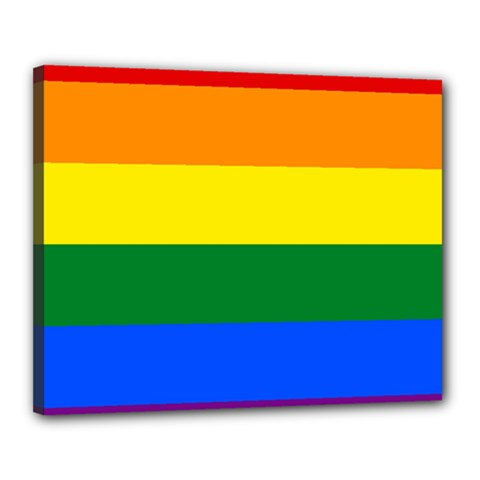 Pride rainbow flag Canvas 20  x 16