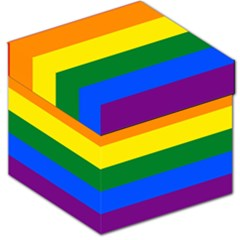 Pride rainbow flag Storage Stool 12