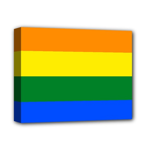 Pride rainbow flag Deluxe Canvas 14  x 11