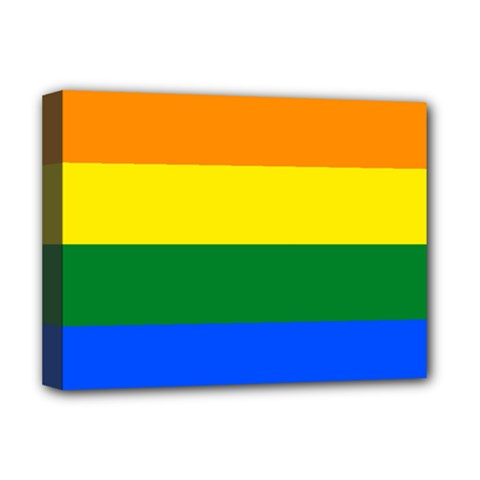 Pride rainbow flag Deluxe Canvas 16  x 12