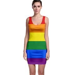 Pride rainbow flag Sleeveless Bodycon Dress