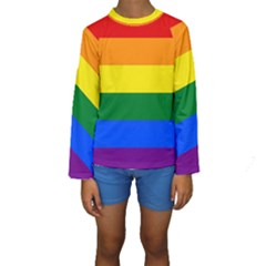Pride rainbow flag Kids  Long Sleeve Swimwear