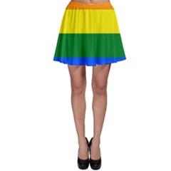 Pride rainbow flag Skater Skirt