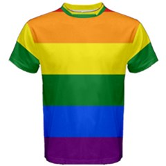 Pride rainbow flag Men s Cotton Tee