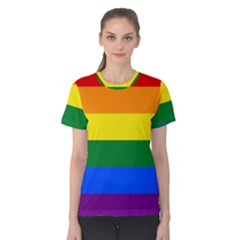 Pride rainbow flag Women s Cotton Tee