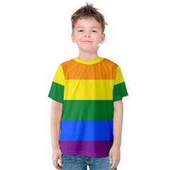 Pride rainbow flag Kids  Cotton Tee