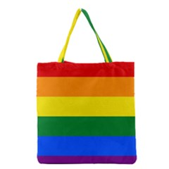 Pride rainbow flag Grocery Tote Bag