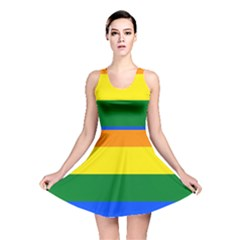 Pride rainbow flag Reversible Skater Dress