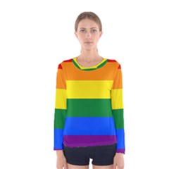 Pride rainbow flag Women s Long Sleeve Tee