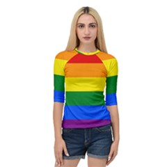 Pride rainbow flag Quarter Sleeve Tee