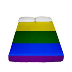 Pride rainbow flag Fitted Sheet (Full/ Double Size)