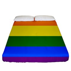 Pride rainbow flag Fitted Sheet (King Size)