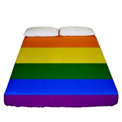 Pride rainbow flag Fitted Sheet (California King Size)
