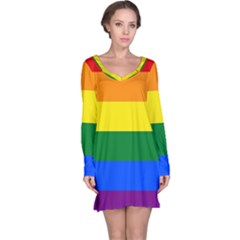 Pride rainbow flag Long Sleeve Nightdress