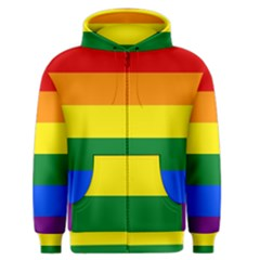 Pride rainbow flag Men s Zipper Hoodie