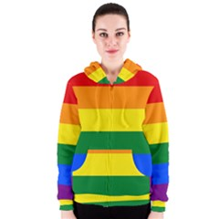 Pride rainbow flag Women s Zipper Hoodie