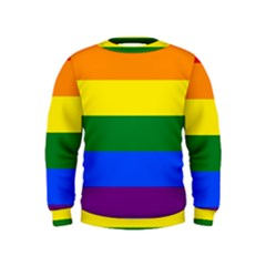 Pride rainbow flag Kids  Sweatshirt
