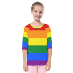 Pride rainbow flag Kids  Quarter Sleeve Raglan Tee