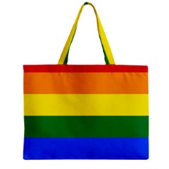 Pride rainbow flag Zipper Mini Tote Bag