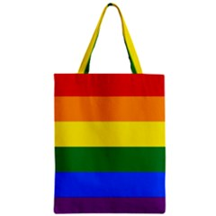 Pride rainbow flag Zipper Classic Tote Bag