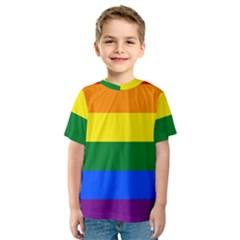 Pride rainbow flag Kids  Sport Mesh Tee