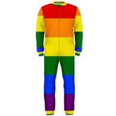 Pride rainbow flag OnePiece Jumpsuit (Men)
