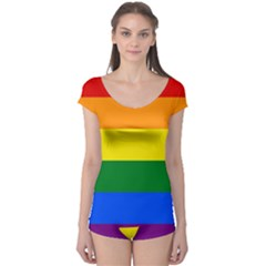 Pride rainbow flag Boyleg Leotard