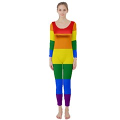 Pride rainbow flag Long Sleeve Catsuit