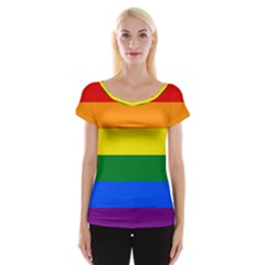 Pride rainbow flag Cap Sleeve Tops