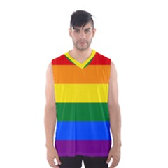 Pride rainbow flag Men s Basketball Tank Top