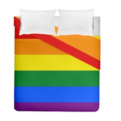Pride rainbow flag Duvet Cover Double Side (Full/ Double Size)