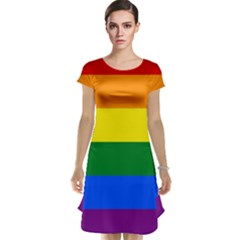 Pride rainbow flag Cap Sleeve Nightdress