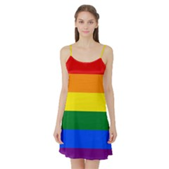 Pride rainbow flag Satin Night Slip