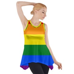 Pride rainbow flag Side Drop Tank Tunic