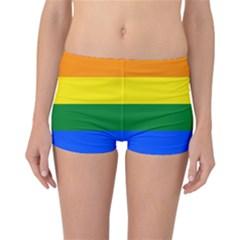 Pride rainbow flag Reversible Boyleg Bikini Bottoms