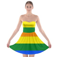 Pride rainbow flag Strapless Bra Top Dress