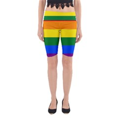 Pride rainbow flag Yoga Cropped Leggings