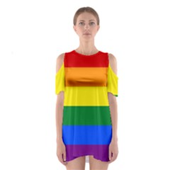 Pride rainbow flag Shoulder Cutout One Piece