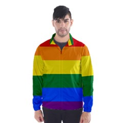 Pride rainbow flag Wind Breaker (Men)